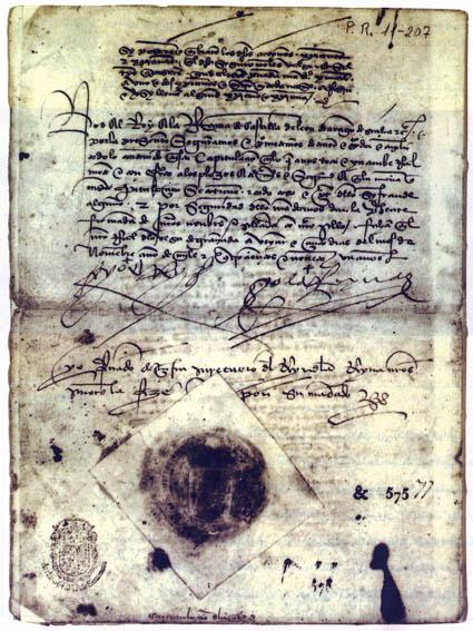 สนธิสัญญาส่งมอบนครฆอรนาเฏาะฮฺ (แกรนาดา)  ที่มั่นสุดท้ายของชาวมุสลิมในอัล-อันดะลุสแก่ฝ่ายคริสเตียนสเปน