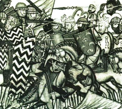 สมรภูมิ อัล-อิกอบฺ (ลาส นาวาส ดิ โทโลซา) วาดโดยศิลปินชาวตะวันตก