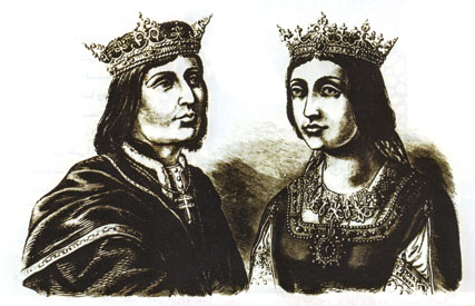 กษัตริย์เฟอร์ดินานที่ 5 และพระราชินีอิซาเบล่า แห่งสเปน