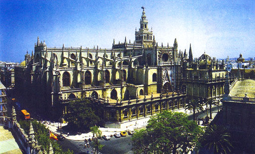 มหาวิหารแห่งนครอิชบีลียะฮฺ ภายในมีร่างของ เอลซิด วีรบุรุษของชาวสเปนฝังอยู่  โดมมหาวิหารแห่งนี้คือมัสญิดกลางของนครแห่งนี้