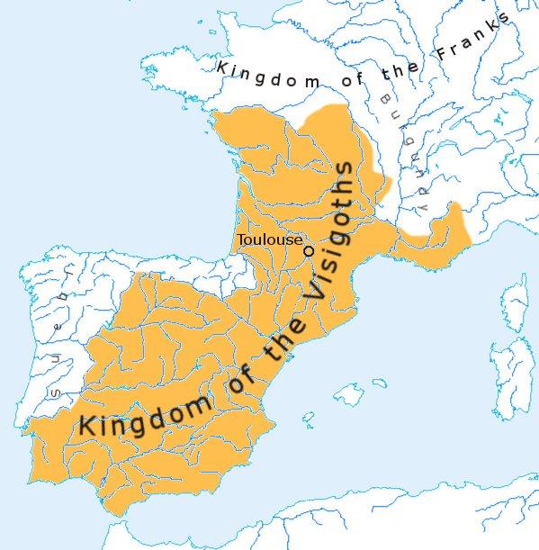ราชอาณาจักรวิซิกอทในปี ค.ศ. 500