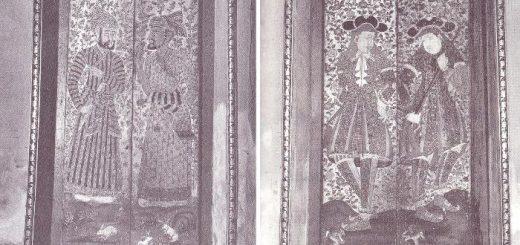 บานหน้าต่างพระวิหารวัดพระเชตุพนวิมลมังคลาราม มีภาพเขียนชาวต่างประเทศ ชาติต่างๆ