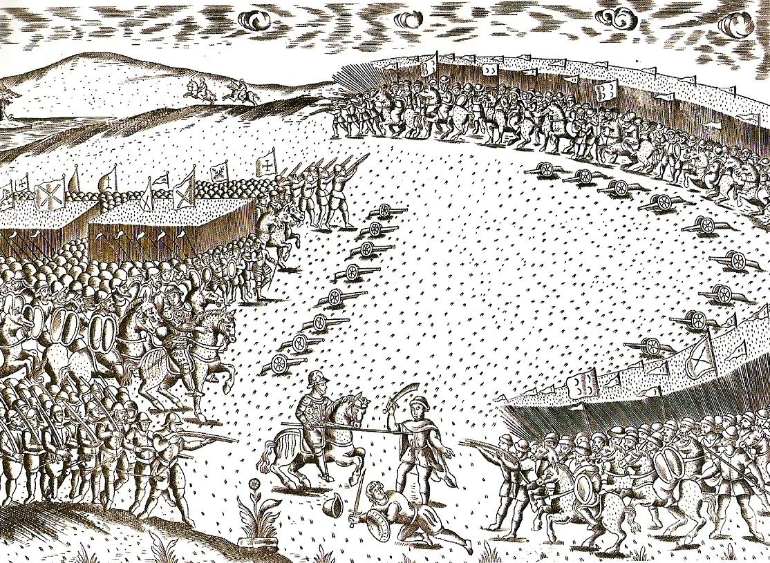 ภาพวาดสมรภูมิวาดีย์ กองทัพโปรตุเกสด้านซ้าย