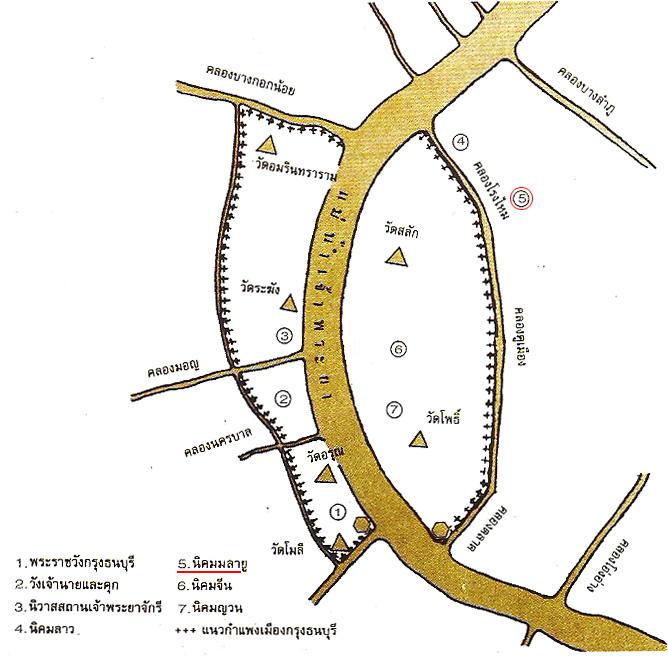 แผนฝังกรุงธนบุรีในสมัยสมเด็จพระเจ้าตากสินมหาราช