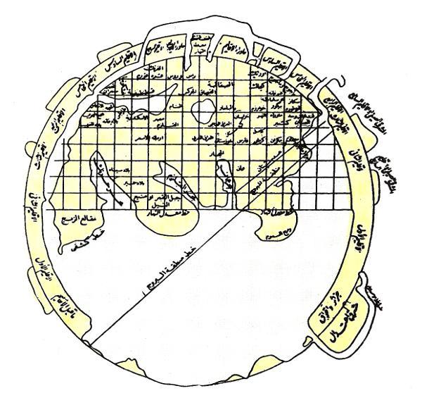 แผนที่โลกของ อัล-มุสเตาฟียฺ (ฮ.ศ.740/ค.ศ.1339)